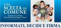 """""""Una scelta in Comune"""" per la donazione degli organi"""